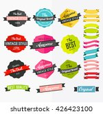 set of retro labels  stickers... | Shutterstock .eps vector #426423100