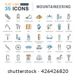 set vector line icons with open ... | Shutterstock .eps vector #426426820