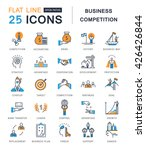 set vector line icons with open ... | Shutterstock .eps vector #426426844