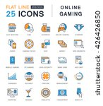 set vector line icons with open ... | Shutterstock .eps vector #426426850
