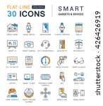 set vector line icons with open ... | Shutterstock .eps vector #426426919