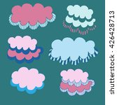drawing clouds  decorative... | Shutterstock .eps vector #426428713