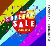 super sale banner. sale...   Shutterstock .eps vector #426430258