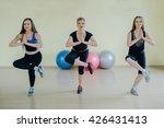 beautiful girls spend aerobics...   Shutterstock . vector #426431413