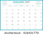 calendar planner for 2017 year. ... | Shutterstock .eps vector #426431770