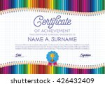certificate template with... | Shutterstock .eps vector #426432409