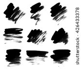set of black ink spots with... | Shutterstock .eps vector #426433378