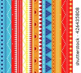 colorful ethnic patterns.... | Shutterstock . vector #426435808