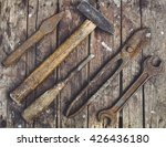 Old  Rusty Tools Lying On A...