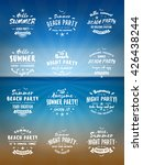 set of summer holidays design... | Shutterstock .eps vector #426438244
