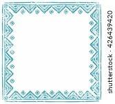 square ethnic frame. empty...   Shutterstock .eps vector #426439420
