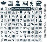 100 education school graduation ... | Shutterstock .eps vector #426440830