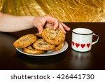 swiss chocolate chips cookies... | Shutterstock . vector #426441730