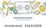 engineering and architecture... | Shutterstock .eps vector #426442858