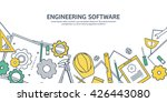 engineering and architecture... | Shutterstock .eps vector #426443080
