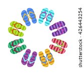 summer colorful flops in circle ...   Shutterstock .eps vector #426443254
