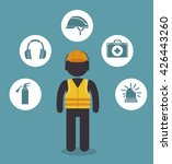 safety equipment design  | Shutterstock .eps vector #426443260