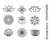 set of line flower design... | Shutterstock .eps vector #426443608
