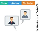 chat icon. flat design. vector...