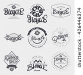 bicycle badge insignia for any... | Shutterstock . vector #426446374
