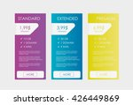 price list  hosting plans and... | Shutterstock .eps vector #426449869
