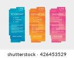 set tariffs for website.... | Shutterstock .eps vector #426453529