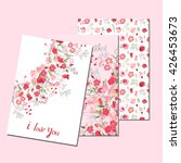floral templates with cute... | Shutterstock .eps vector #426453673