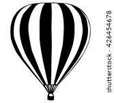 Isolated Air Balloon Silhouett...