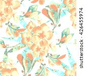 vector tropical pattern. hand... | Shutterstock .eps vector #426455974