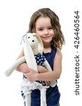 little lovely girl embracing...   Shutterstock . vector #426460564