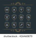zodiac icon collection. sacred... | Shutterstock .eps vector #426460870
