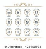 zodiac icon collection. sacred... | Shutterstock .eps vector #426460936