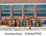 variety of colorful metal cargo ... | Shutterstock . vector #426462940