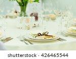 wedding guest table setting... | Shutterstock . vector #426465544