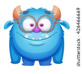 cute cartoon monster | Shutterstock .eps vector #426466669