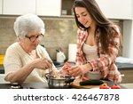 grandmother and granddaughter... | Shutterstock . vector #426467878