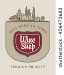 banner for the wine store with... | Shutterstock .eps vector #426473683