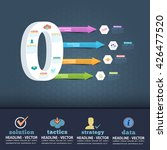 number 9 infographics design... | Shutterstock .eps vector #426477520