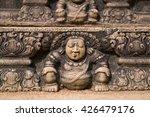 vishnu on stone wal   Shutterstock . vector #426479176