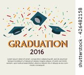 2016 graduation vector template ... | Shutterstock .eps vector #426482158
