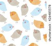 hand drawn cute cartoon little... | Shutterstock .eps vector #426485578