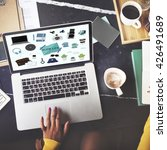 hipster slow life hobbies... | Shutterstock . vector #426491689