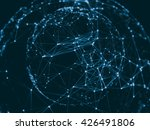 abstract sphere geometry orb... | Shutterstock . vector #426491806