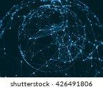 abstract sphere geometry orb...   Shutterstock . vector #426491806