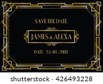 save the date wedding invitation | Shutterstock .eps vector #426493228
