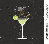 happy hour label | Shutterstock .eps vector #426498070