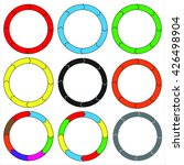 circle  ring. set of 9 colorful ... | Shutterstock . vector #426498904