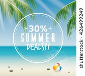 summer sale label | Shutterstock .eps vector #426499249
