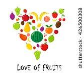 love of fruits. cartoon style....   Shutterstock .eps vector #426500308