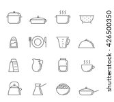 crockery and cooking icon set.... | Shutterstock .eps vector #426500350